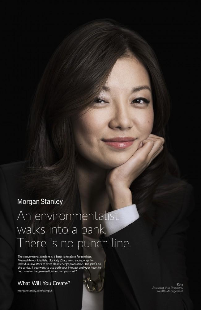 Asian Woman corporate portrait Morgan Stanley