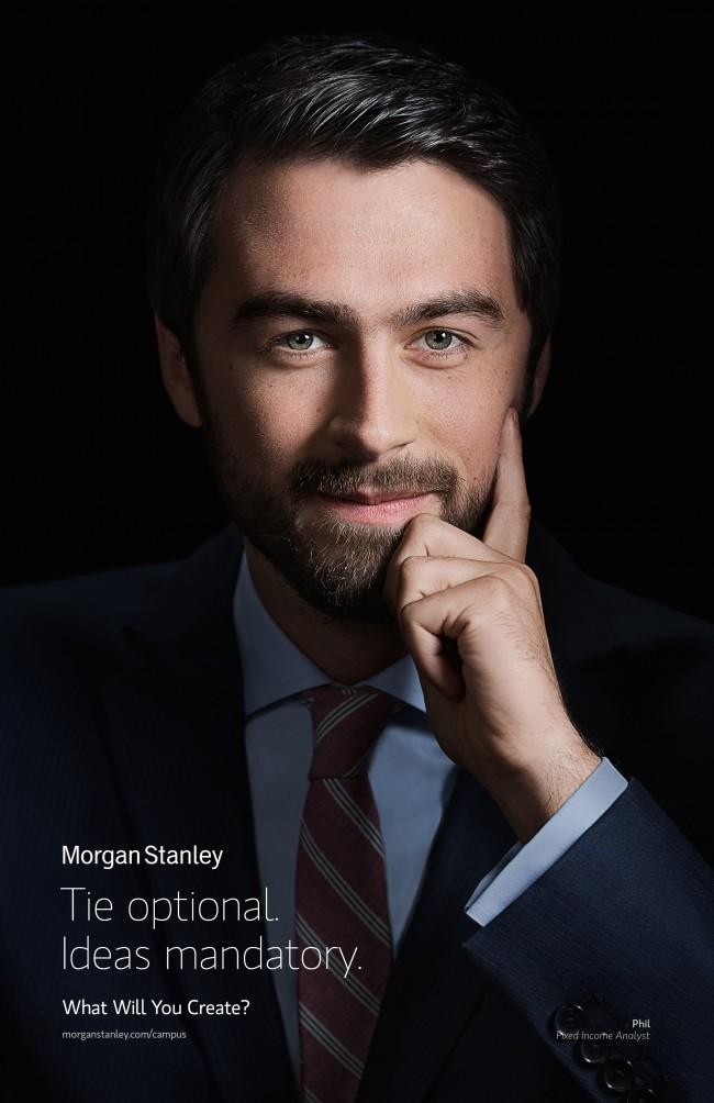 portrait for Morgan Stanley ad