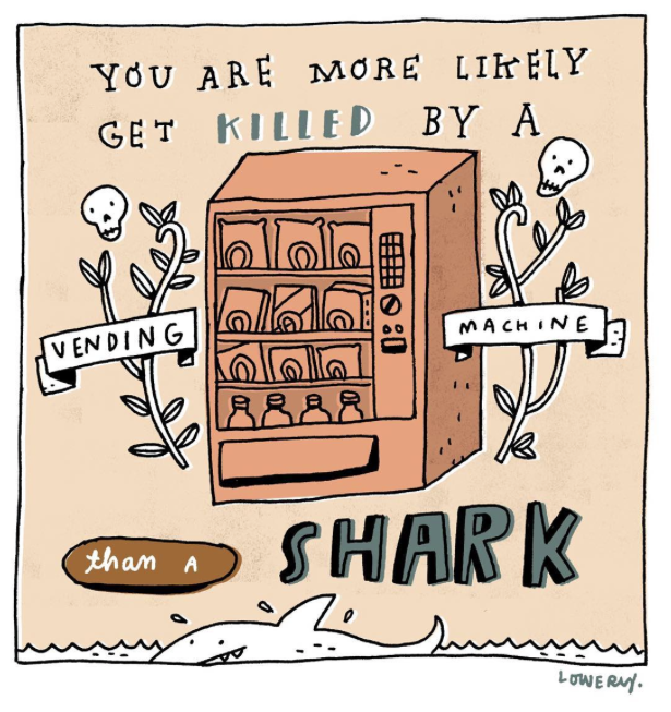 sharks and vending machines