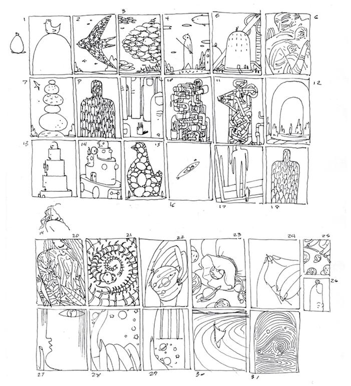 sketches for Plan Advisor editorial