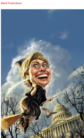 Hillary Clinton as a witch