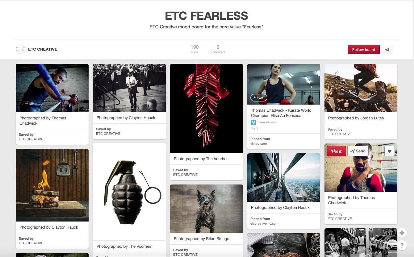 Etc Fearless Mood Board
