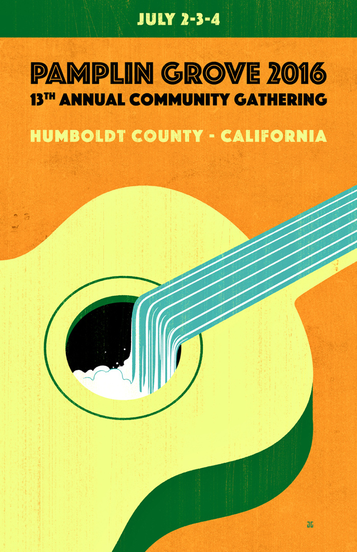 Pampline Grove Community gathering Poster. 2016