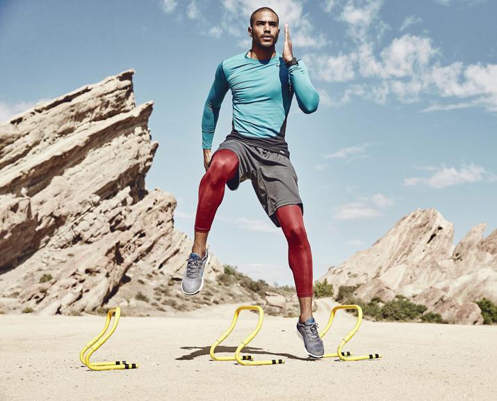 athlete in the desert