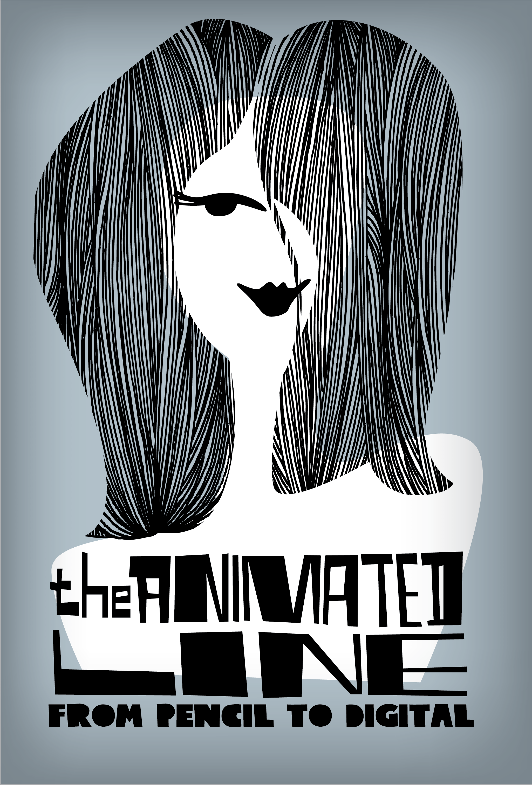 Poster illustration of woman's face.