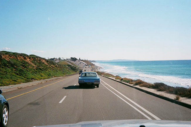Driving up the coast of California