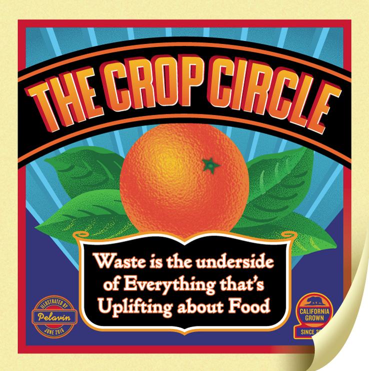 Crop Circle Orange Crate Label