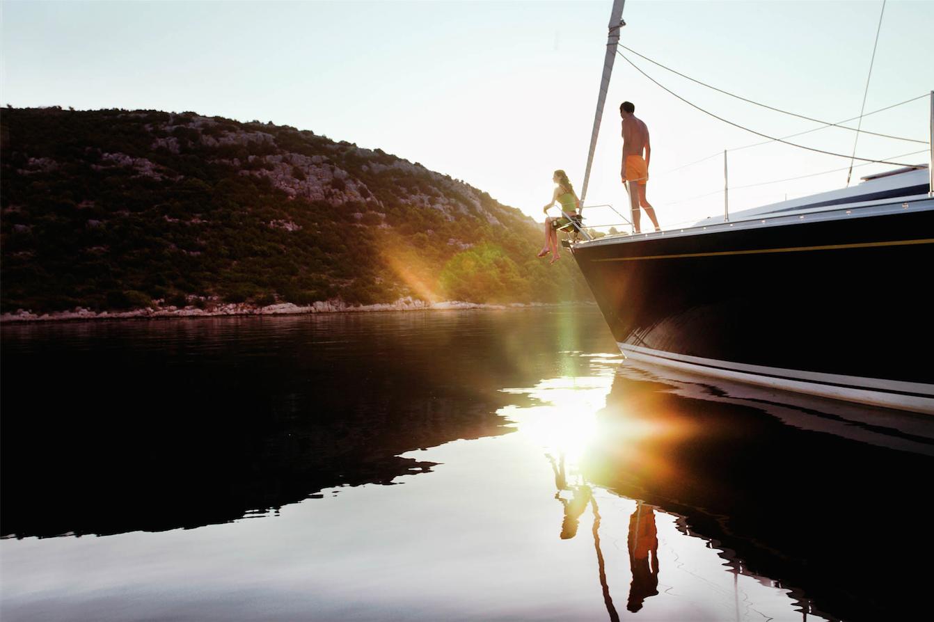 sailing the coast of Croatia