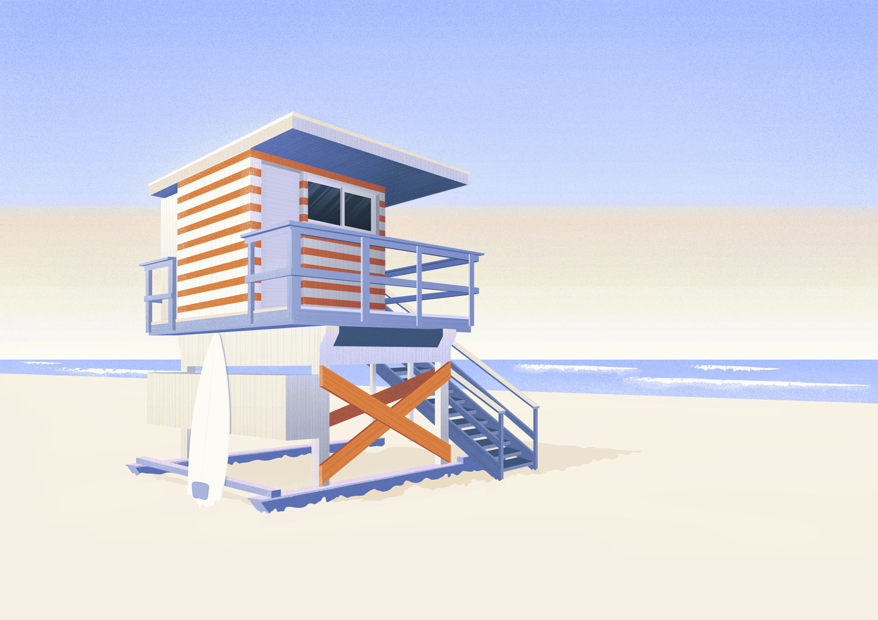 Vector illustration of lifeguard stand.