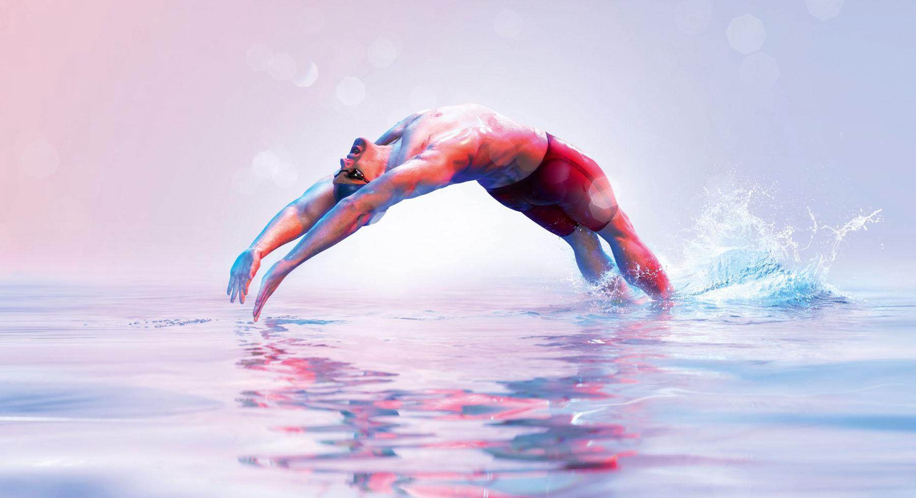 Photo of swimmer