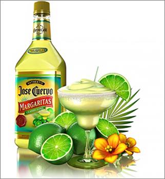 Bottle of Jose Cuervo tequila.