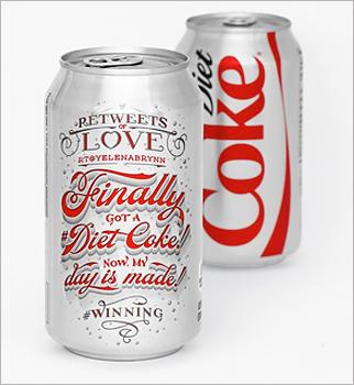 Lettering illustration for Diet Coke.