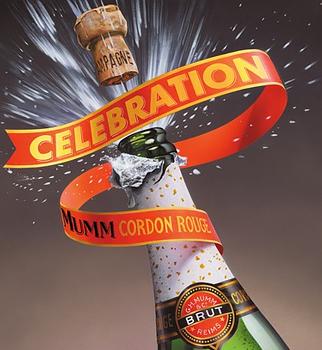 Illustration of Mumm's Champagne.