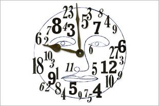 Conceptual illustration of clock.