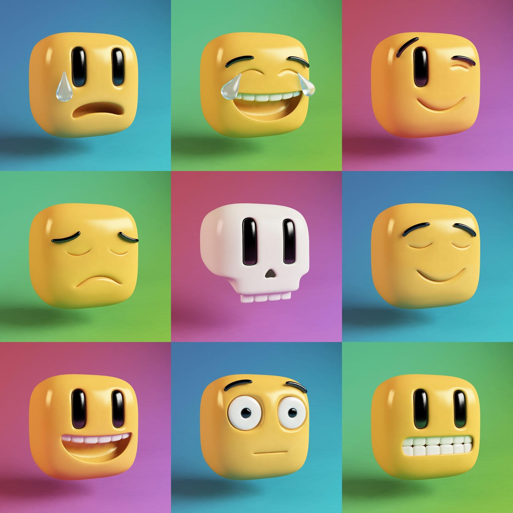Conceptual illustration of emojis.